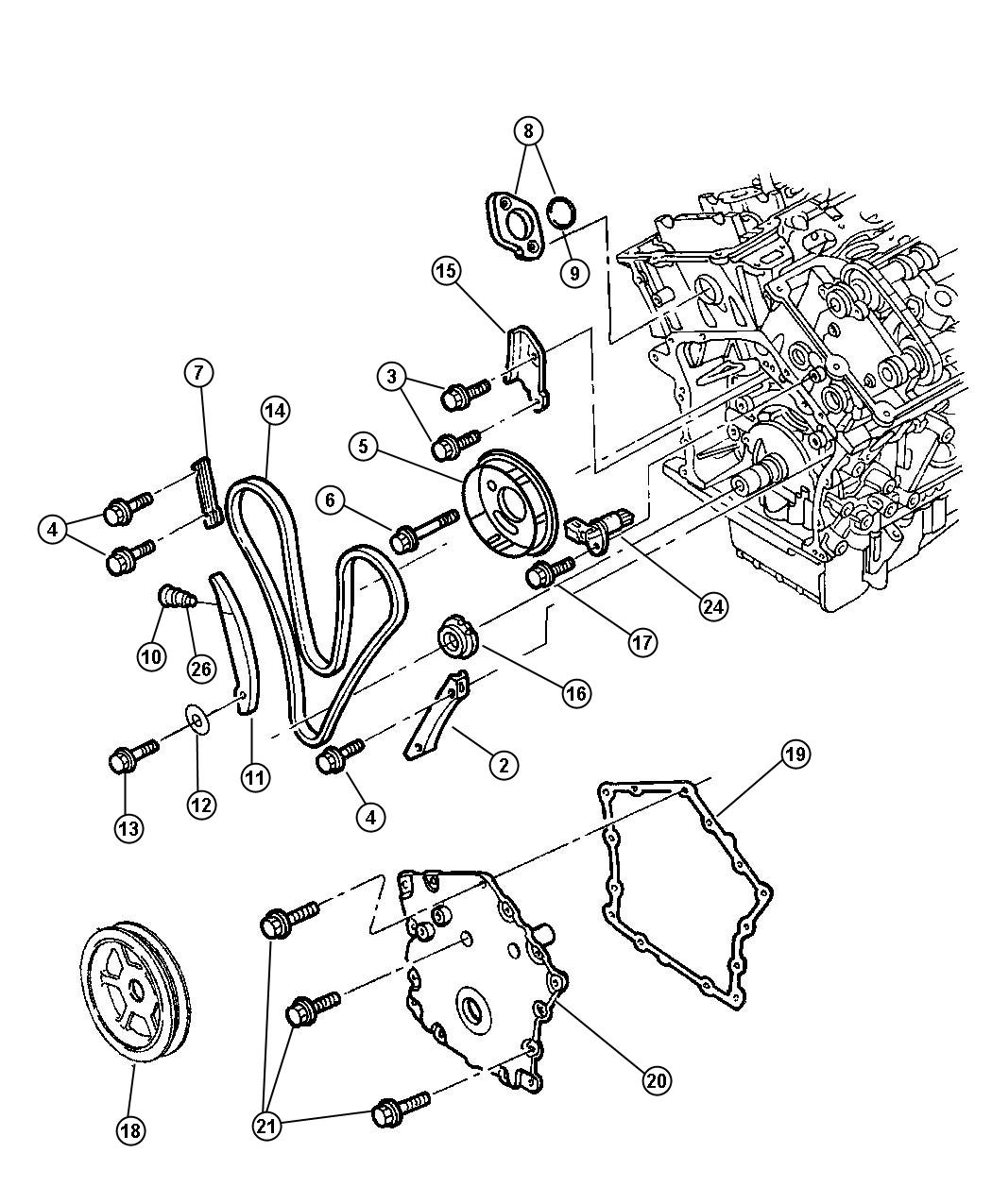Chrysler 300 Chain Timing Primary