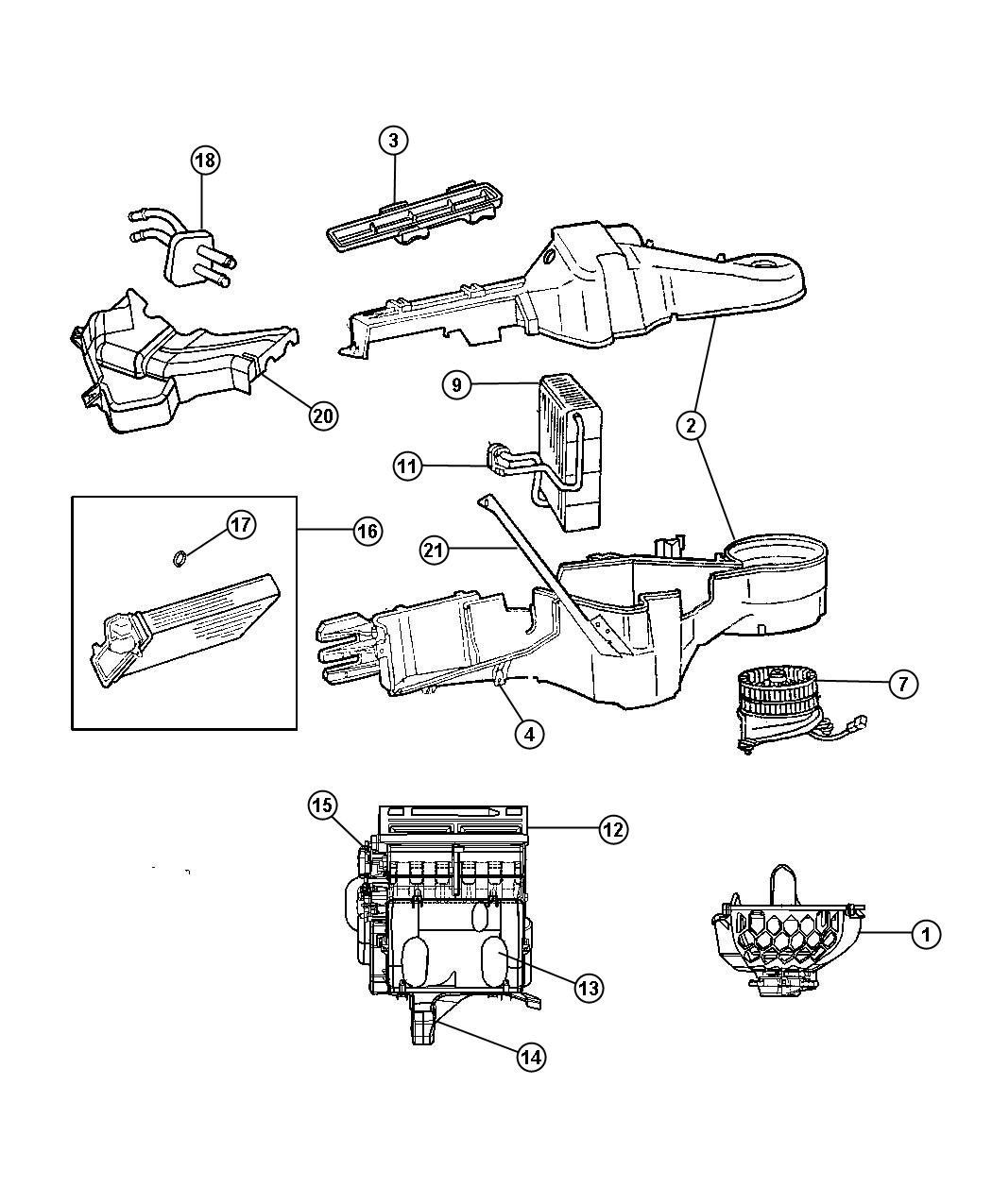 Chrysler Town & Country Wiring. Used for: a/c and heater