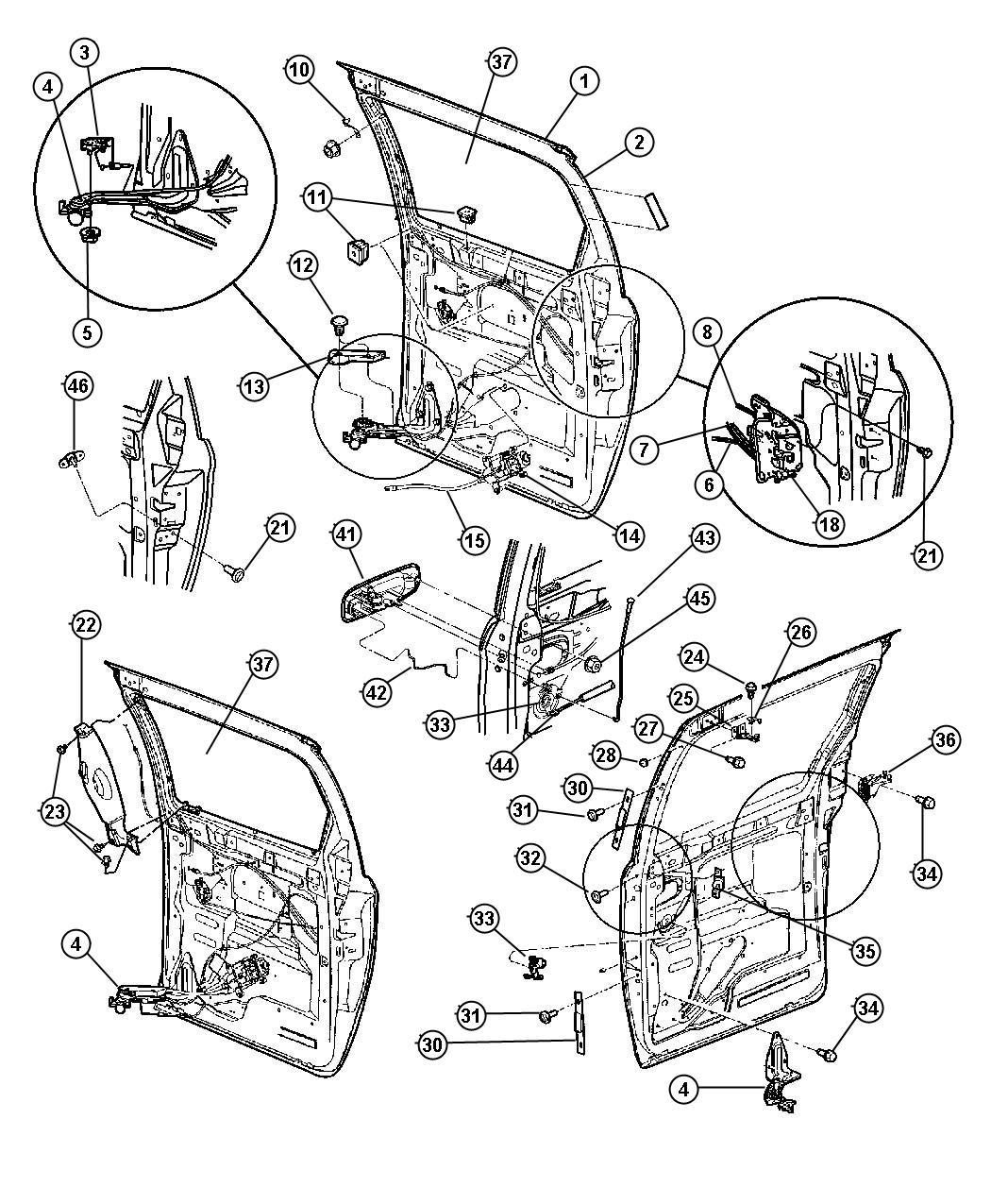 Dodge caravan sliding door parts pictures