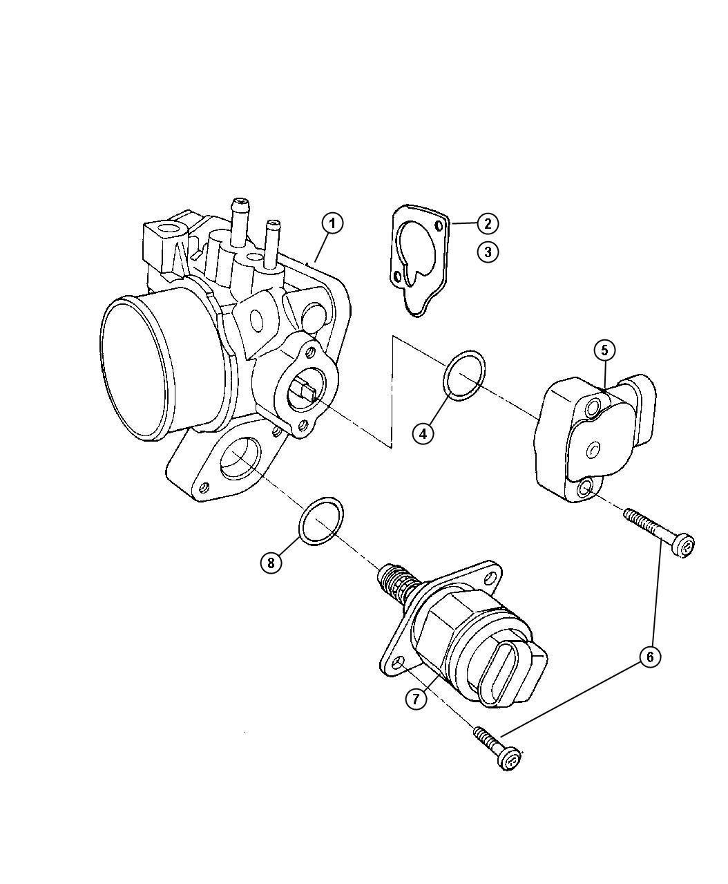 Chrysler Voyager Gasket Throttle Body