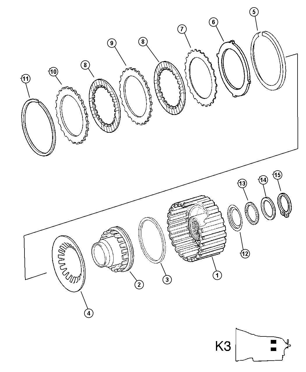Chrysler Crossfire Snap ring. [2.3 mm], [[2.gov't parts