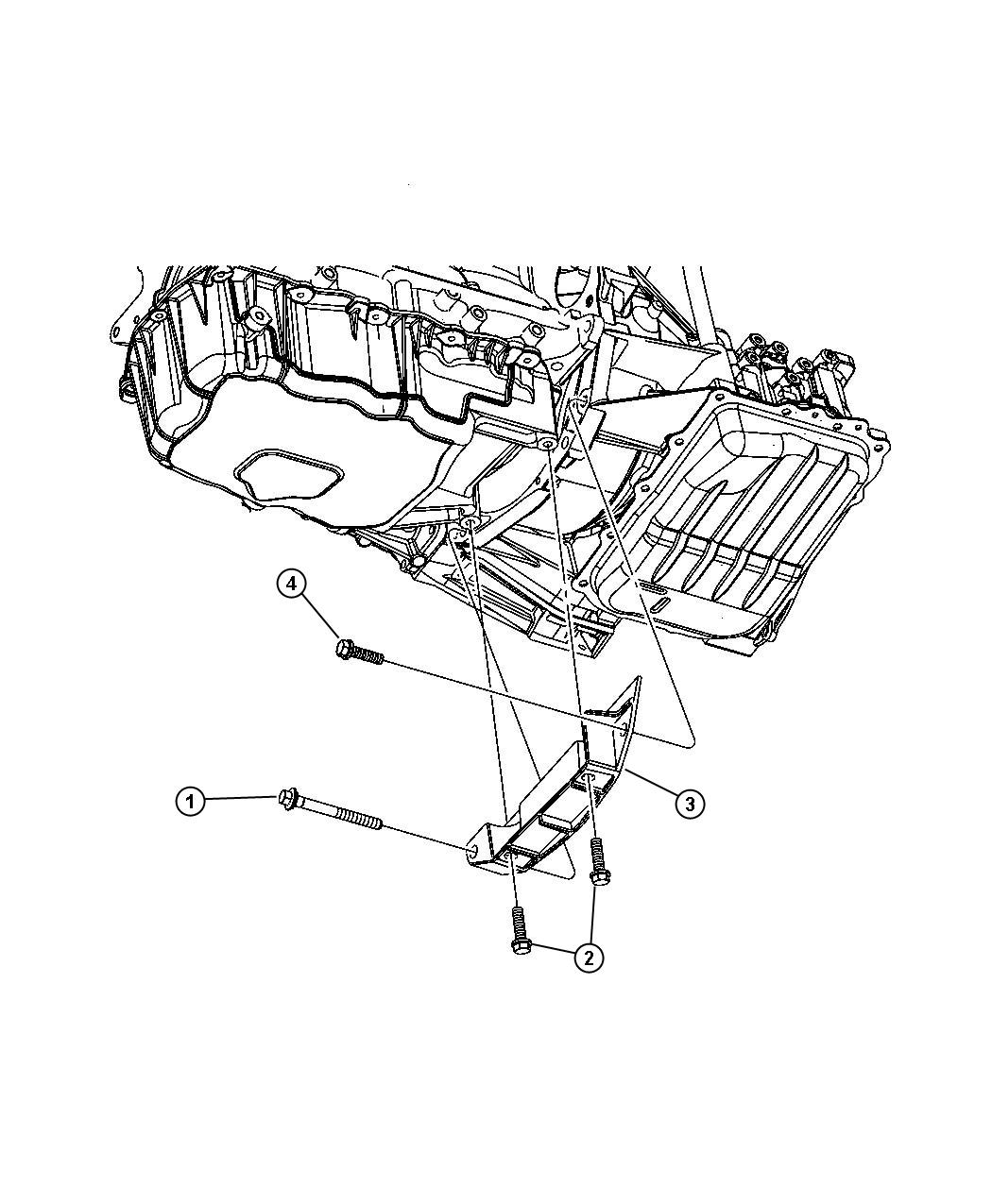 2003 Chrysler Pt Cruiser Collar. Structural. Oil pan to