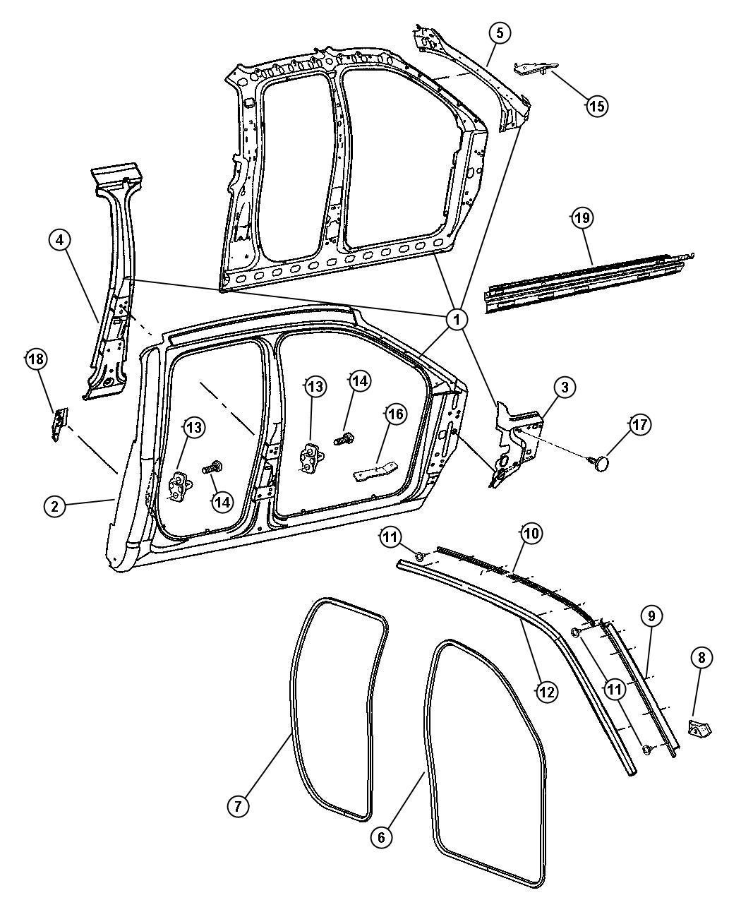 Dodge Ram 2500 Panel. Body side aperture. Left