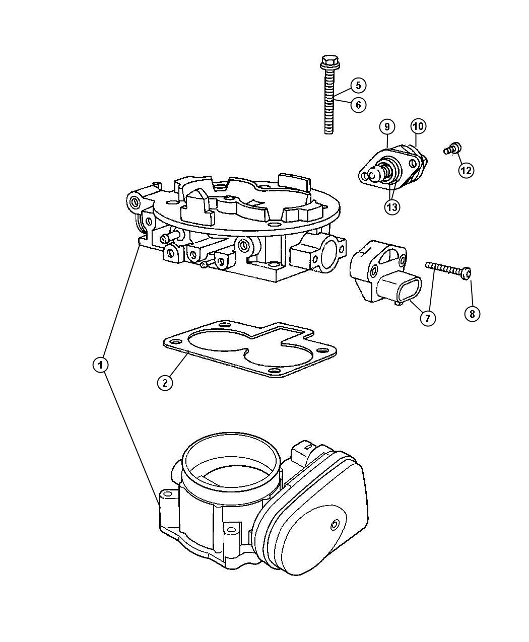 Dodge Ram 1500 Motor kit. A.i.s. Up to 8/23/04, up to 8/24