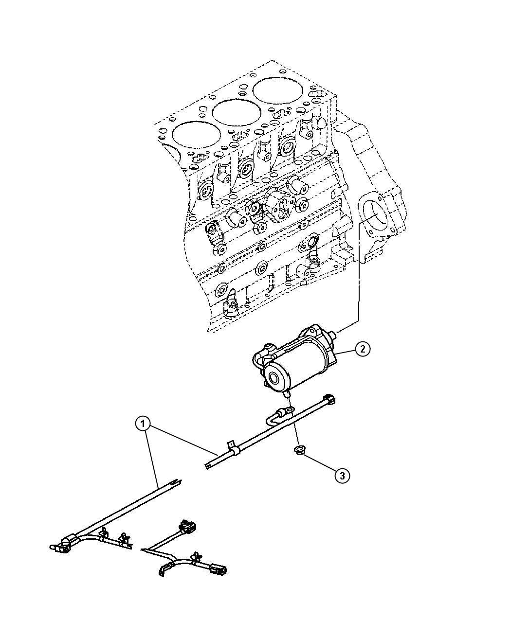 Dodge Ram 3500 Starter. Engine. Exportcummins