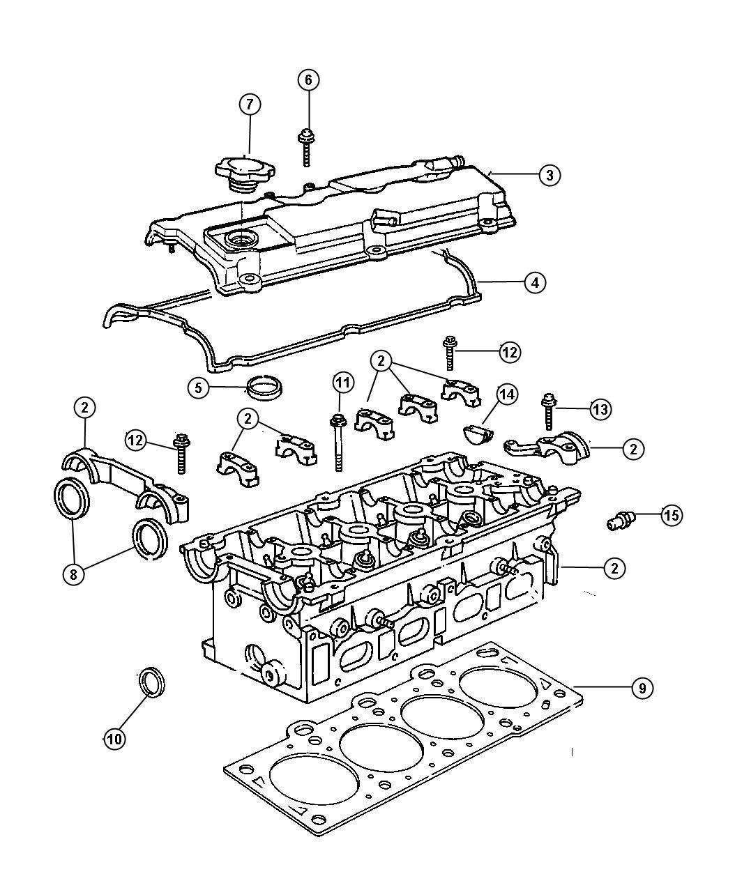 Dodge Caravan Gasket. Cylinder head. Left. Cylnder