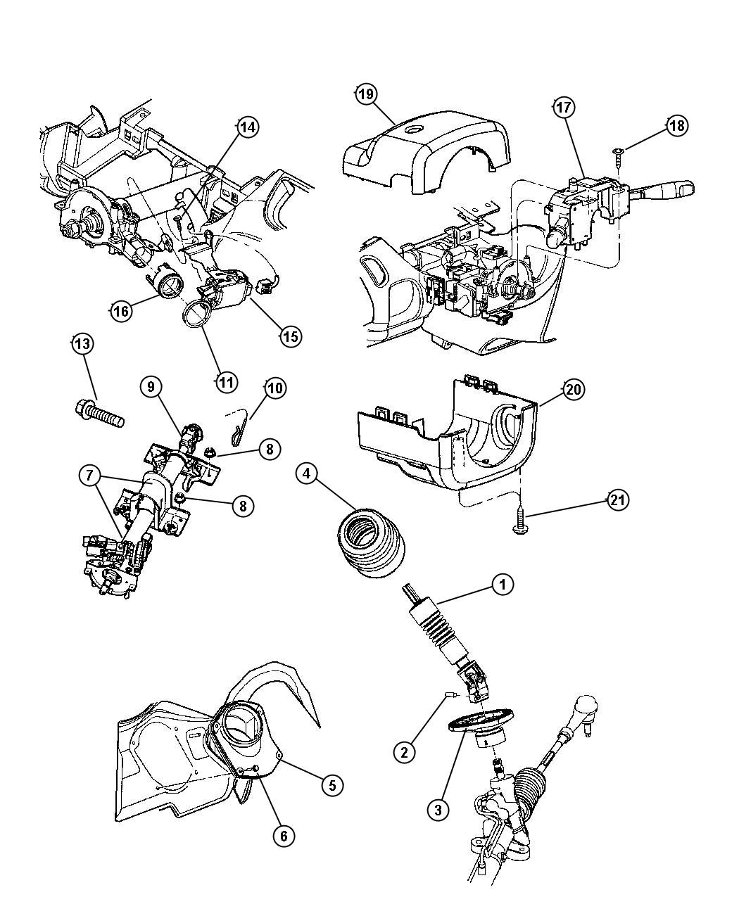 Dodge Neon Shroud. Steering column. [dv], dark quartz