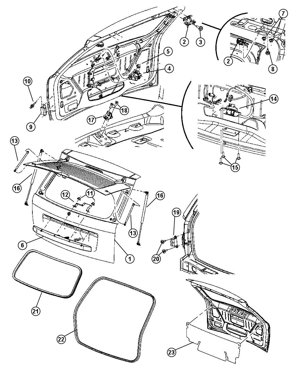 Jeep Grand Cherokee Latch. Liftgate. Up to 8-28-06