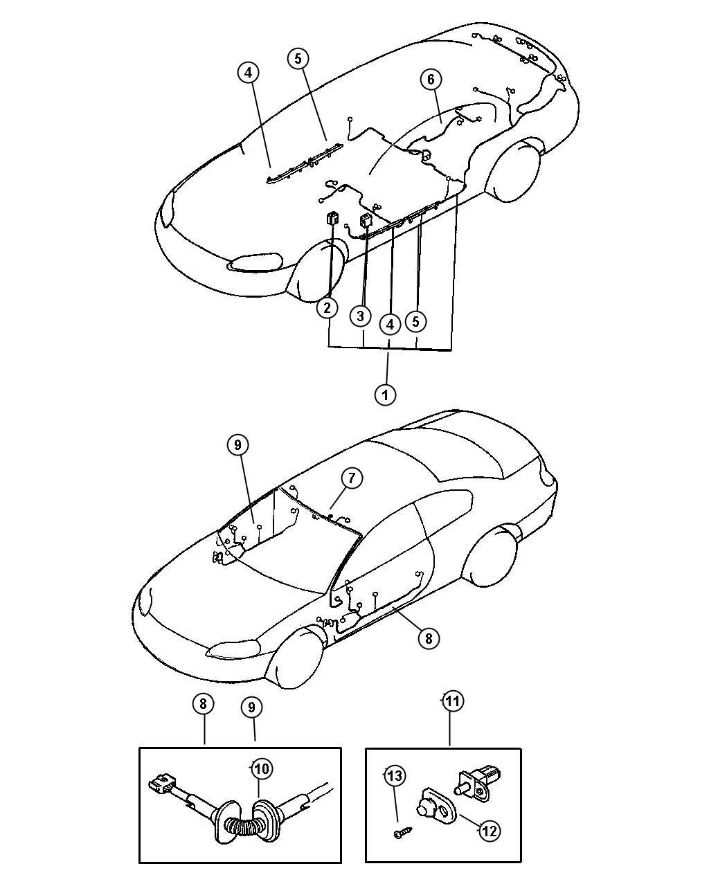 Dodge Stratus Wiring Door With Security