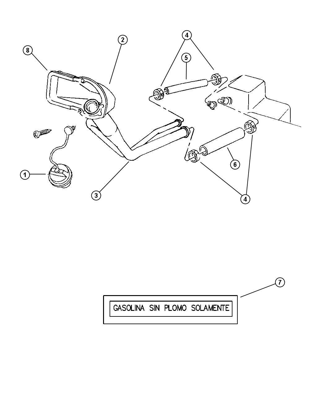 Dodge Housing Fuel Filler Rearemissions Boxnax