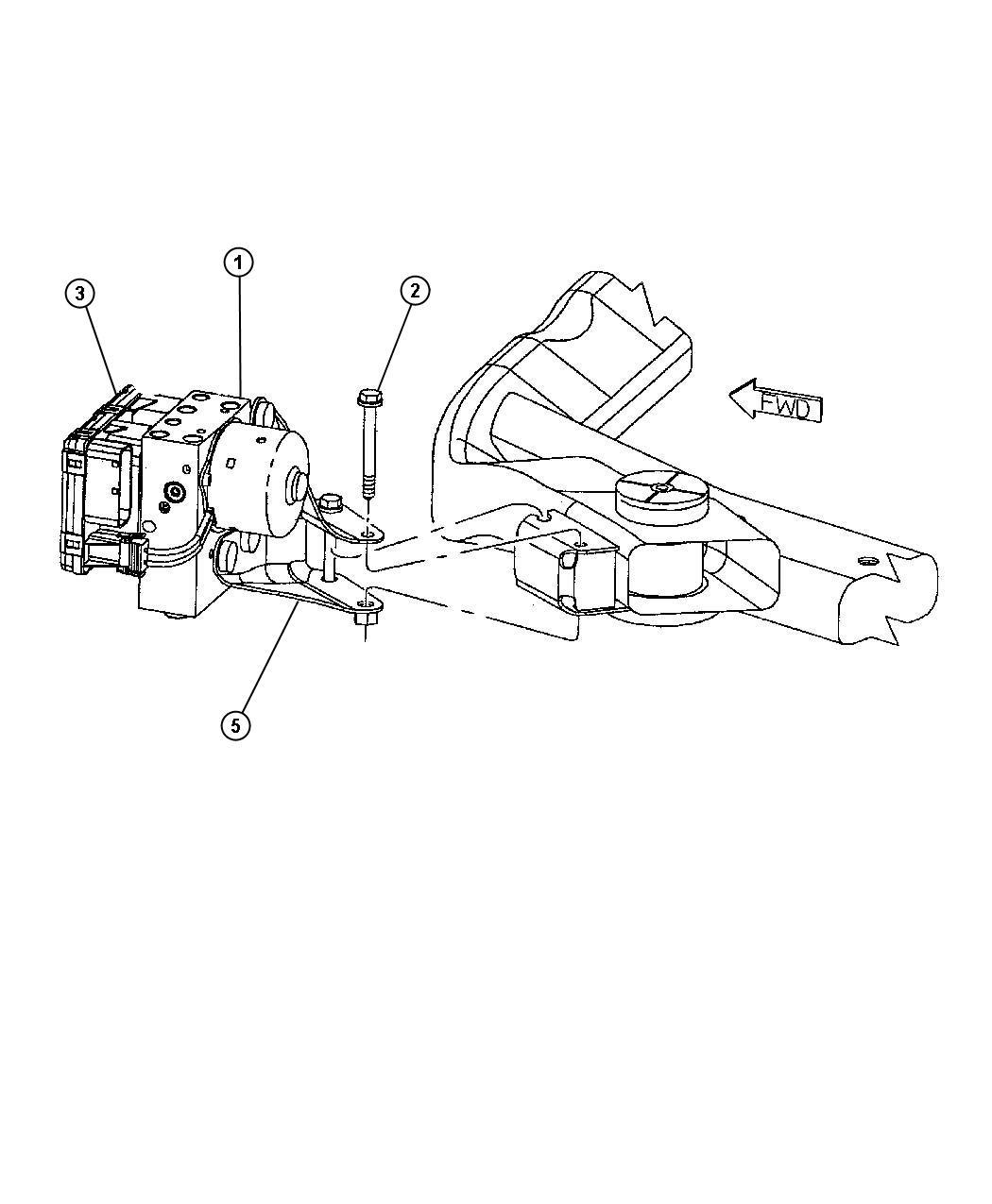 Dodge Intrepid Module Anti Lock Brake System W Traction