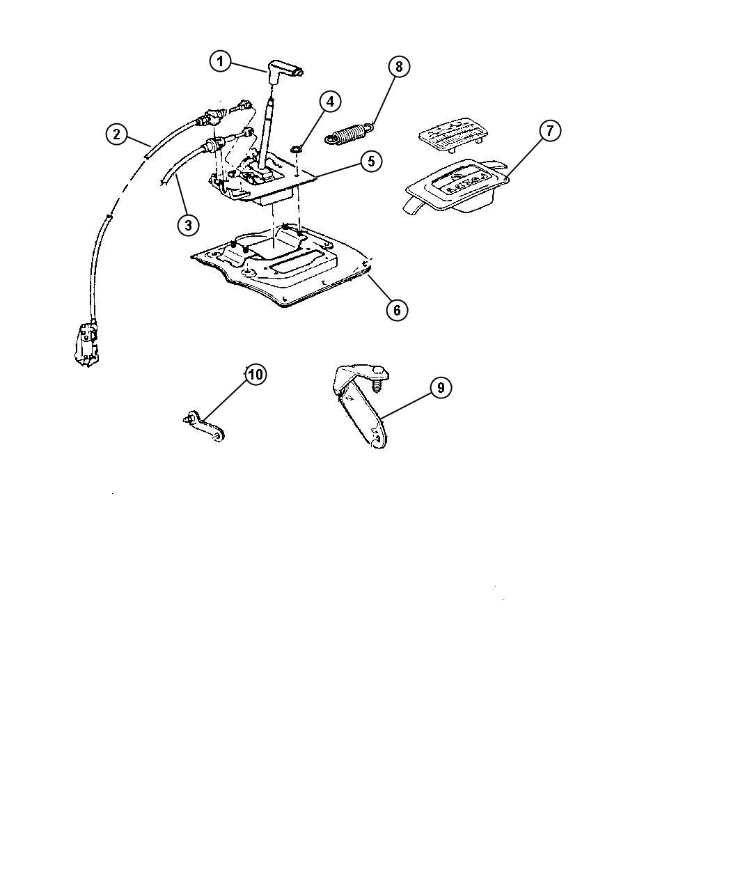 Jeep Wrangler Bracket Shift Cable Shift Cable