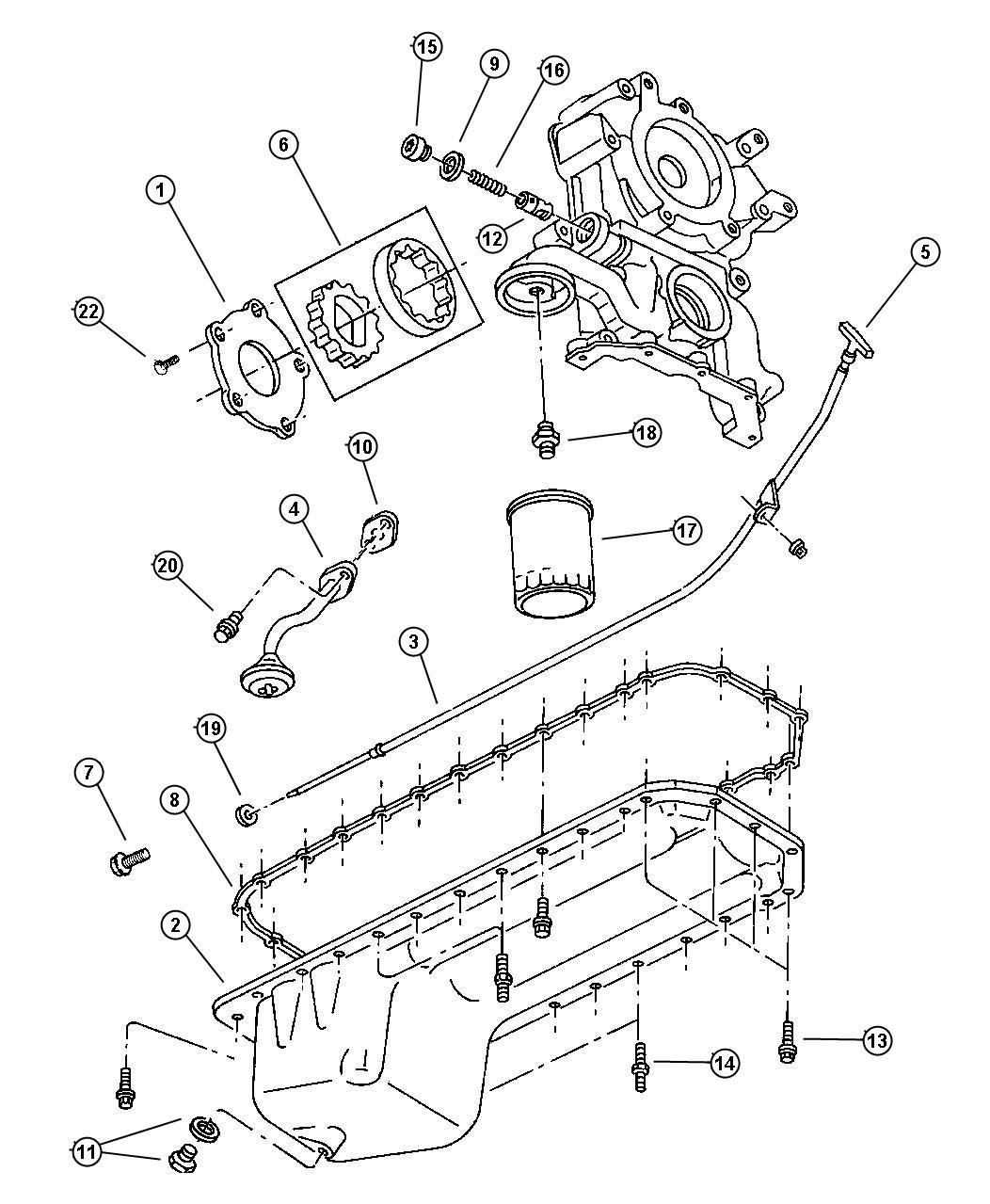 Dodge Ram Rotor Package Oil Pump