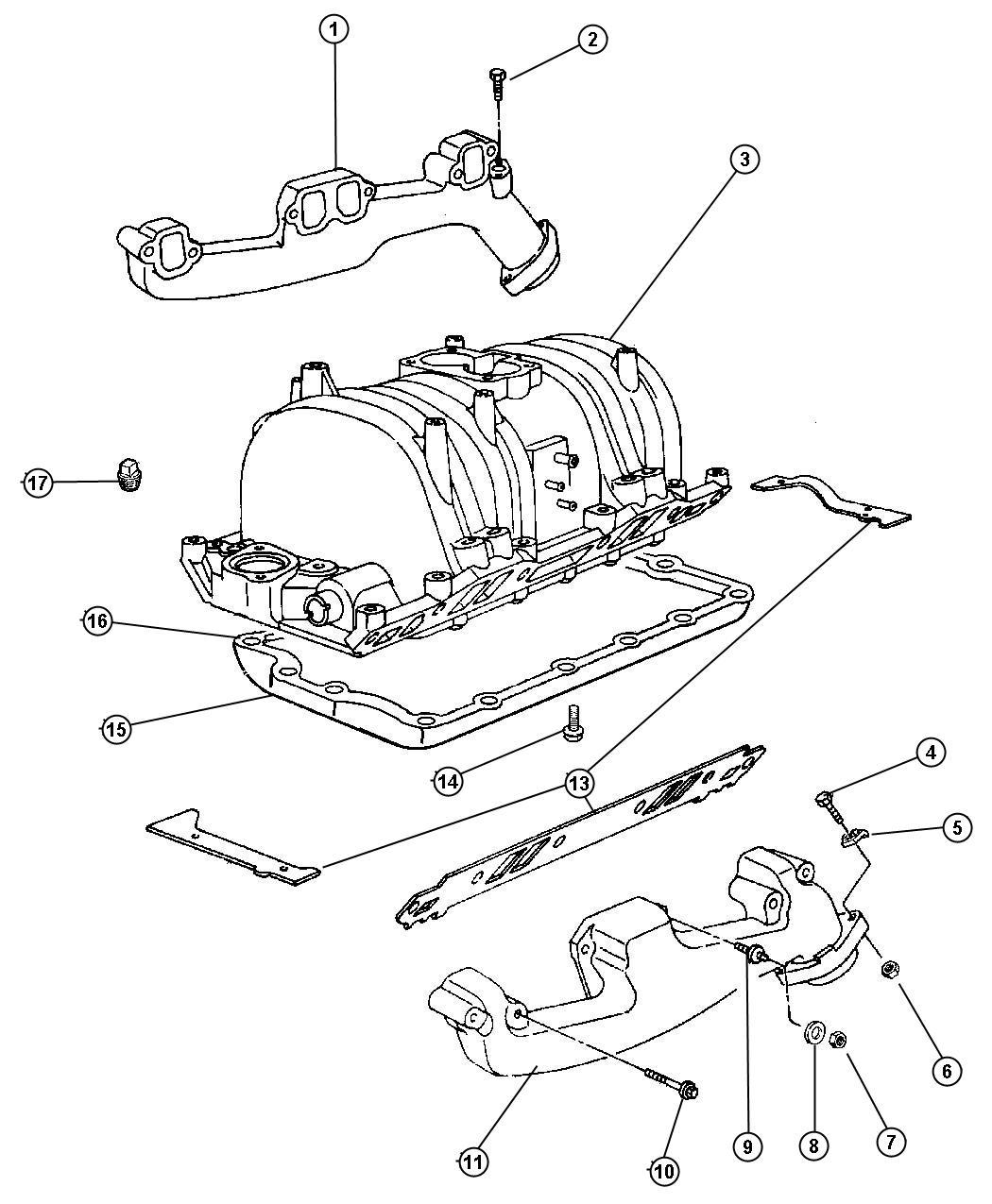 Dodge Ram Pan Intake Manifold Emlemm Eln Dps