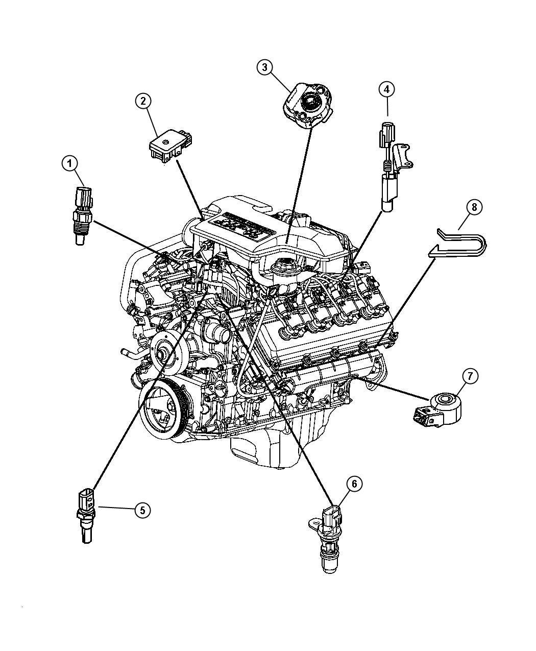 Dodge Ram 1500 Sensor. Map. After 01/06/06, up to 01/11/06