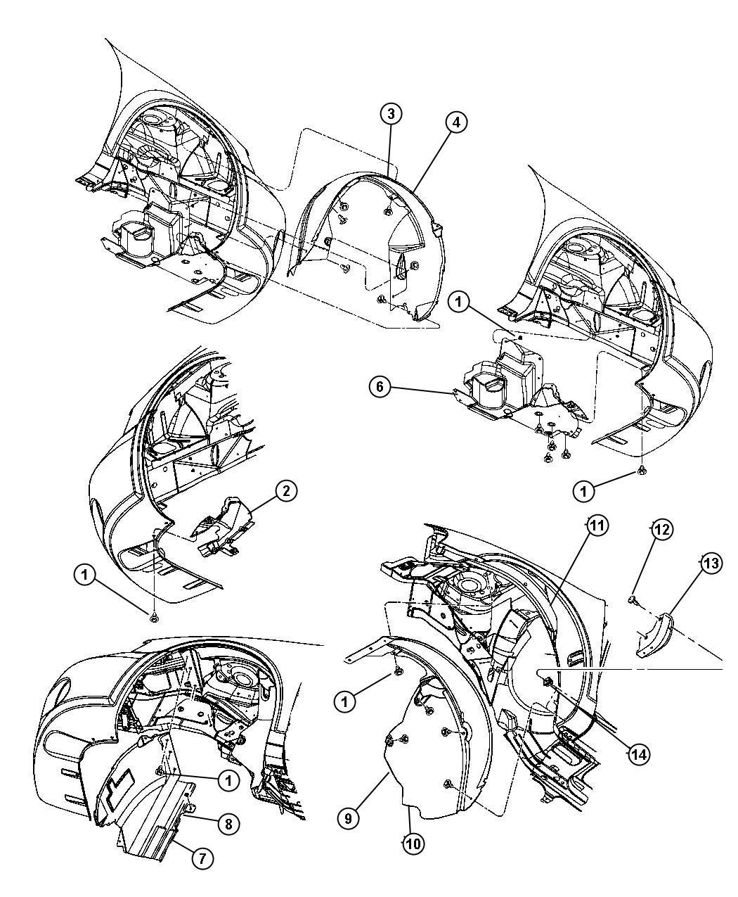 Chrysler Sebring Shield. Transmission. Left. Front