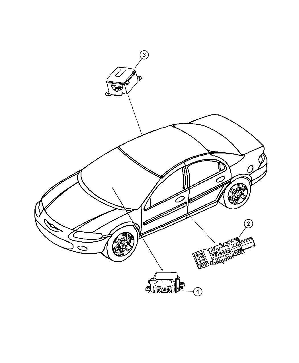 Dodge Stratus Module. Air bag control. Curtainfrt