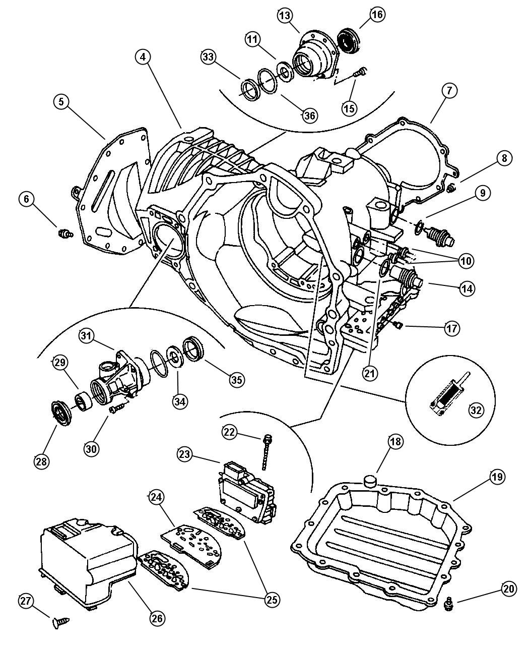 Chrysler Cirrus Gasket. Transmission solenoid. Trans
