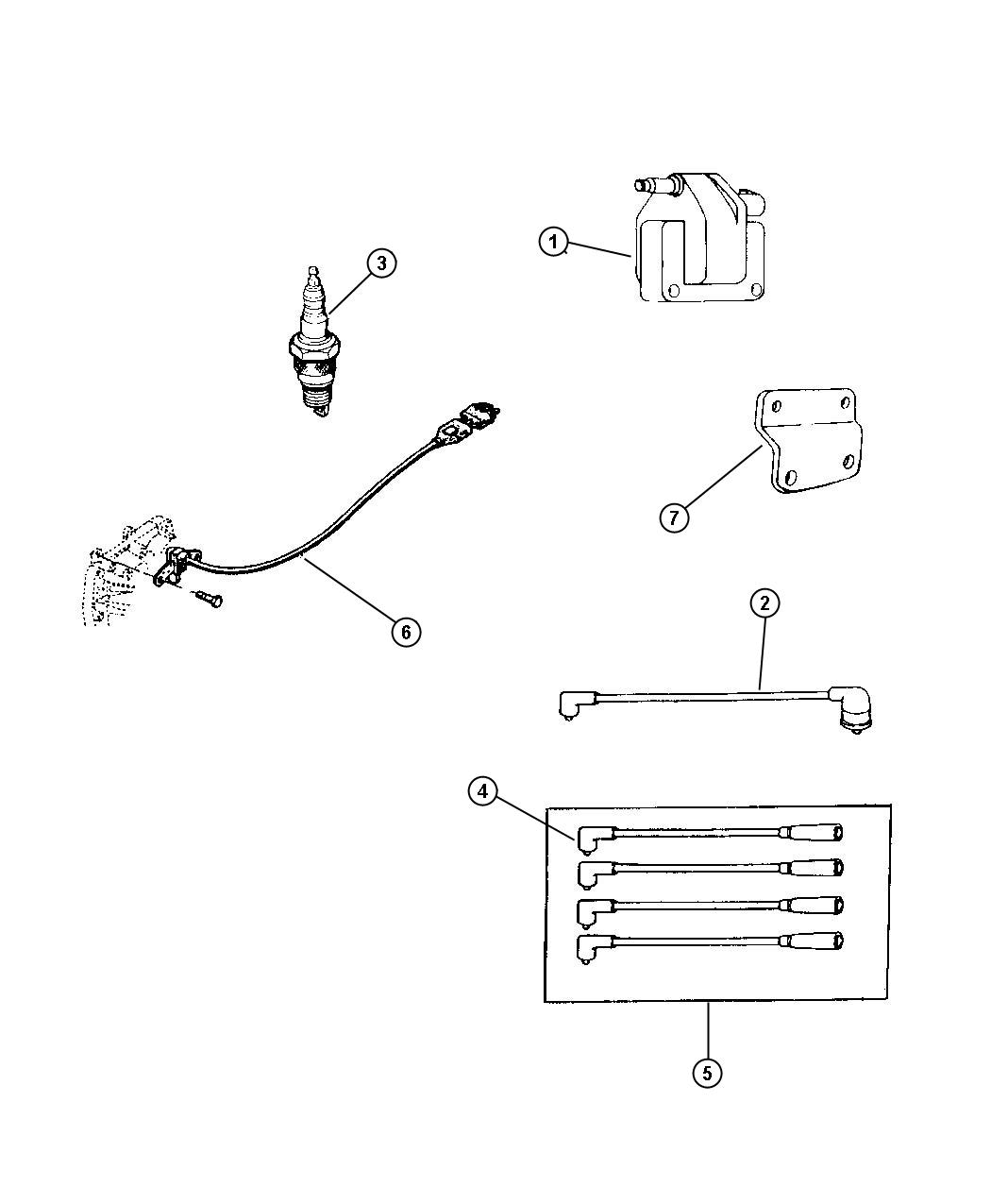 Jeep Wrangler Spark plug. Rc-12-lyc5. 2.5l engine, 4.0l