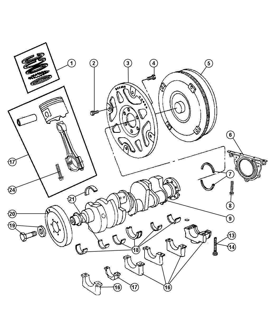 V8 Engine Rods