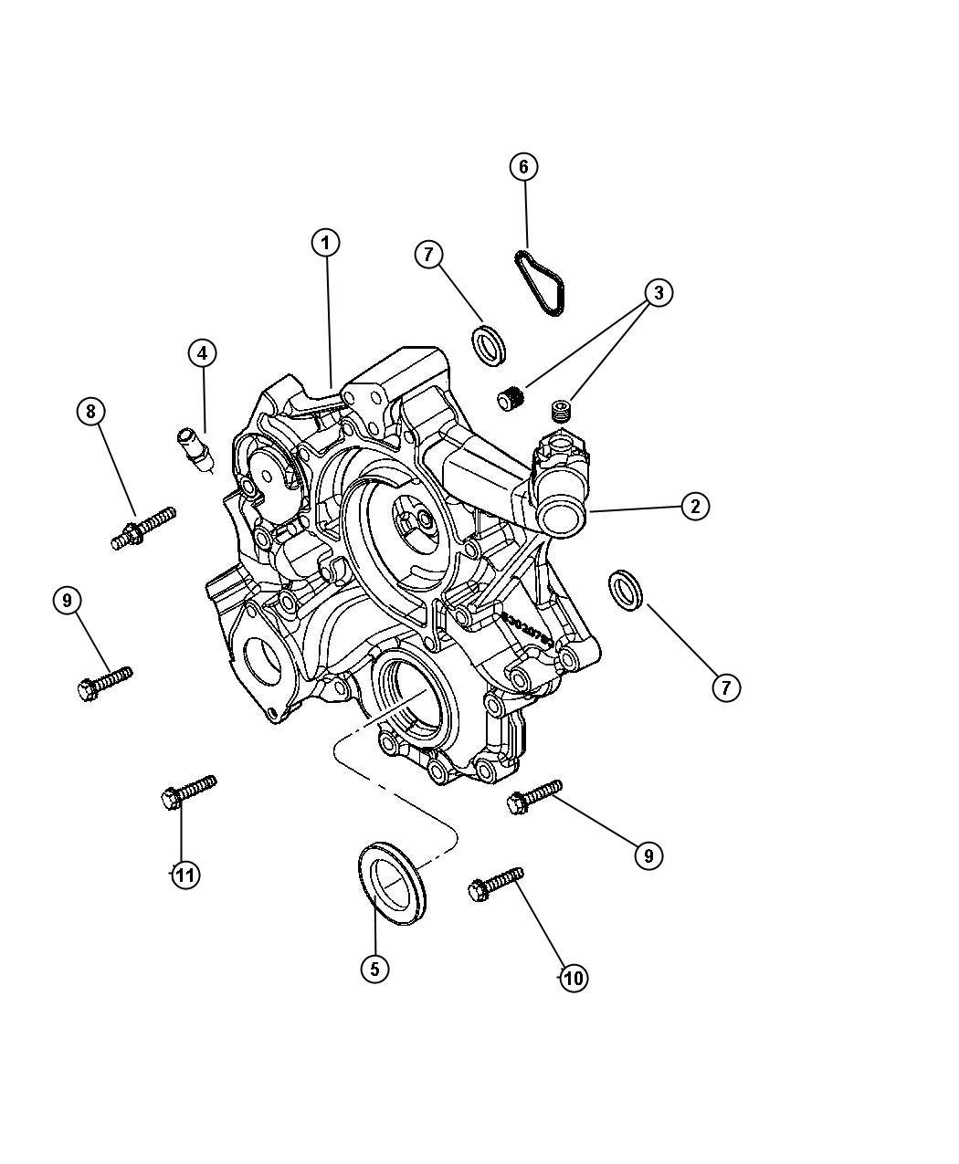 Dodge Ram Bolt Screw Hex Flange Head M10x1