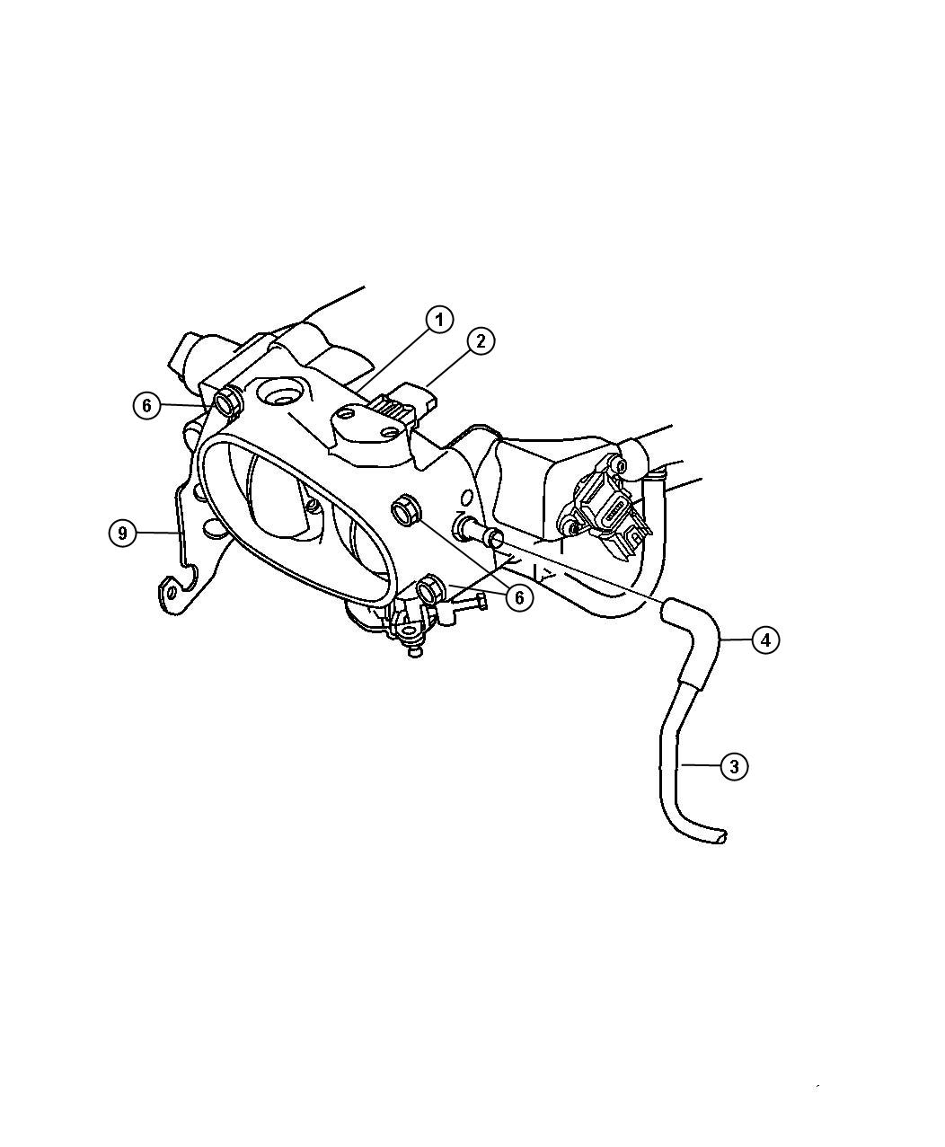 Dodge Viper Hose. Clean air tube to a.i.s. Motor. Ais