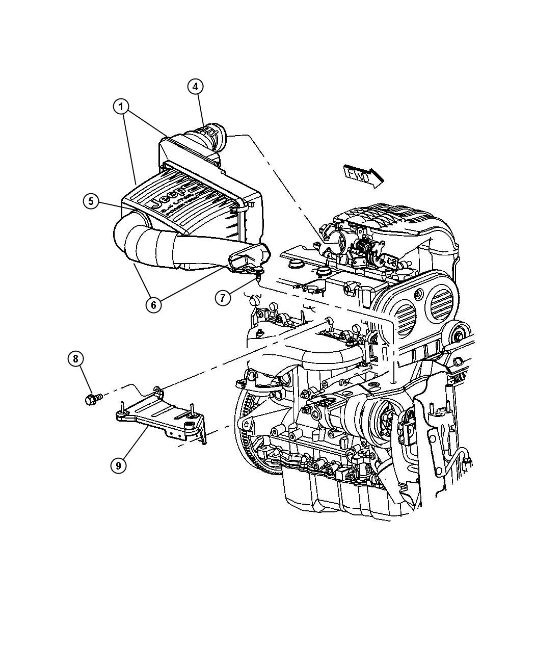 2011 Dodge Nitro HEAT 3.7L V6 4X4 Rivet. Mounting