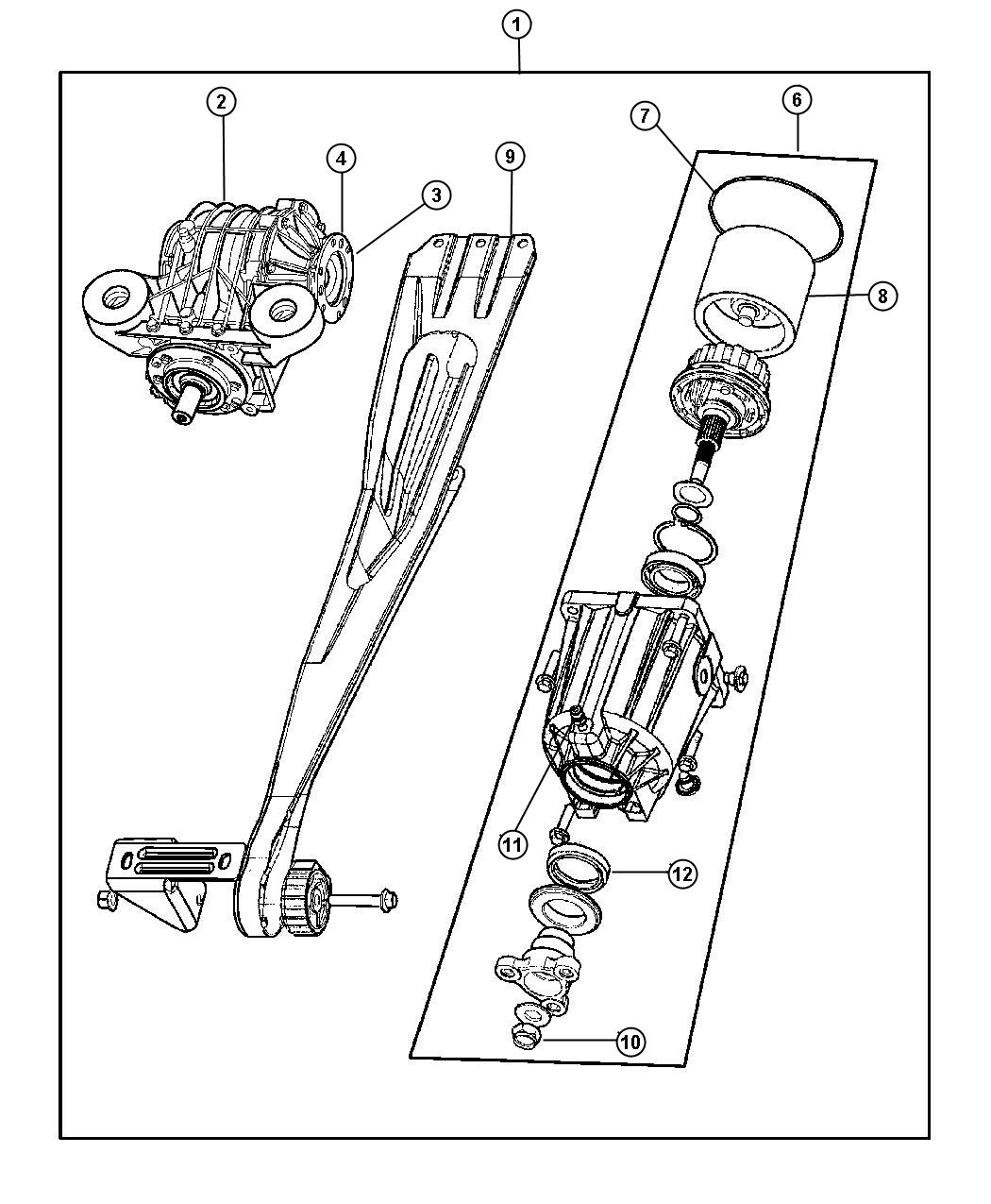 Dodge Caravan Viscous coupling. Rearall, differentialrear