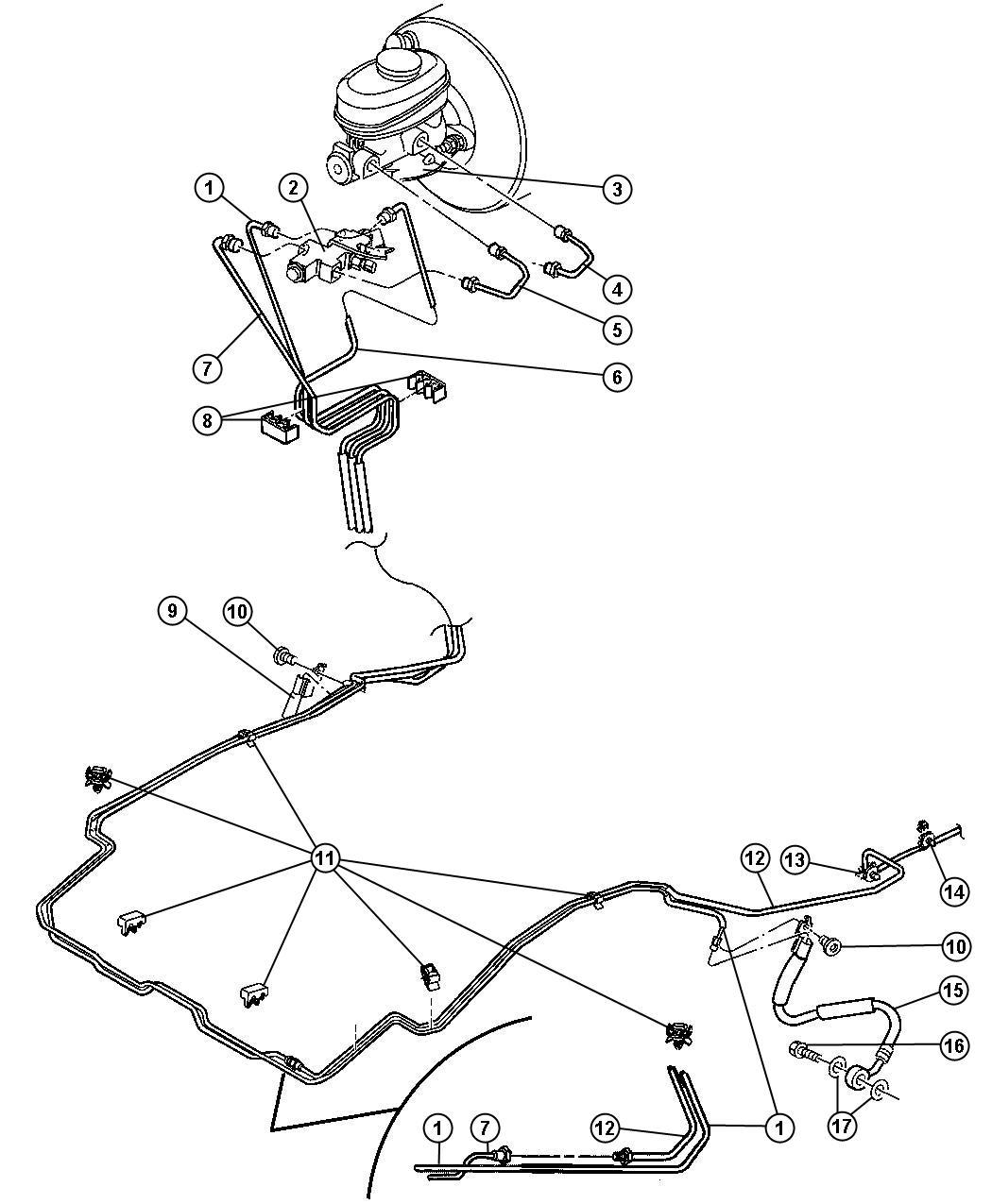 Jeep Wrangler Tube. Brake. Secondary. Hcu to proportioning