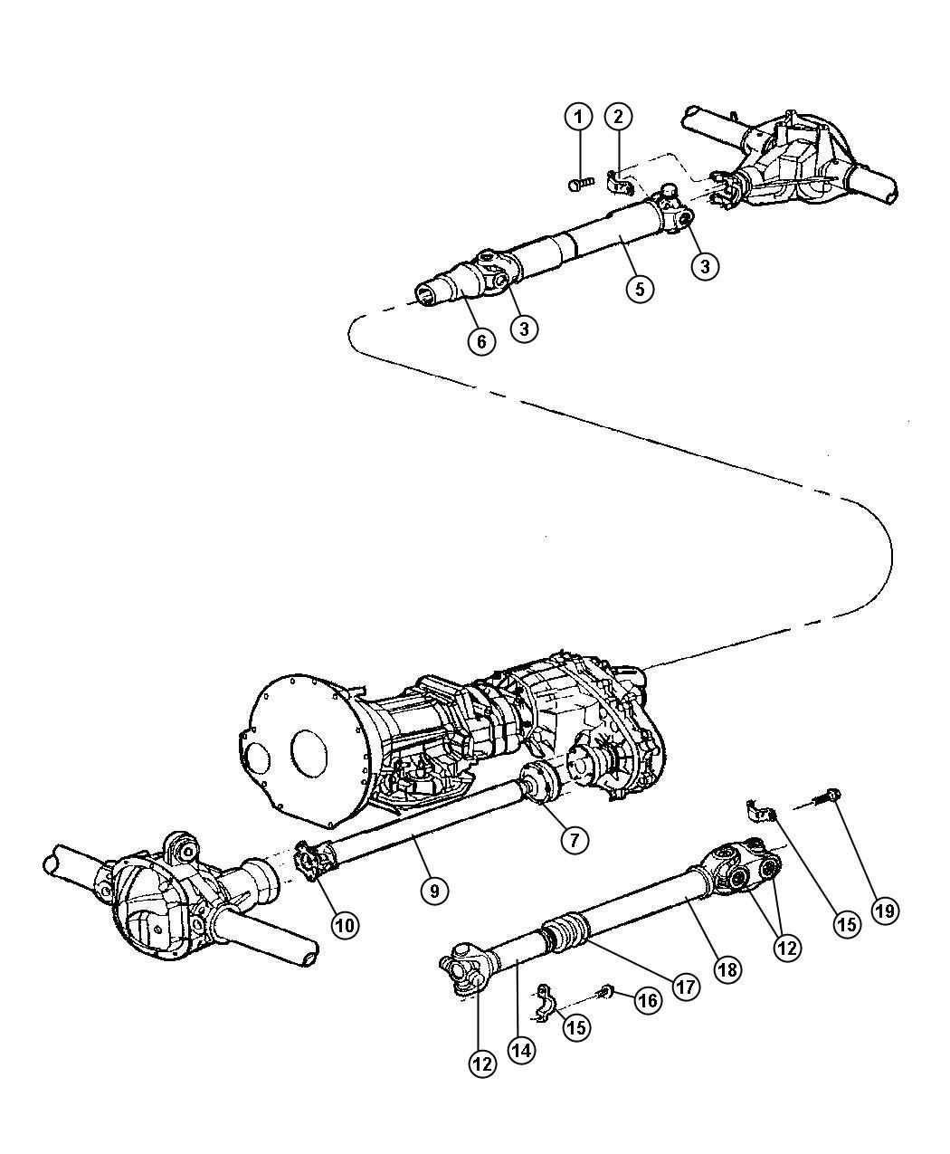 2001 Dodge Boot. Driveshaft. Fbitransfer, clamps
