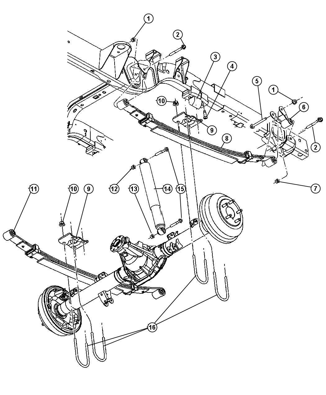 2001 Dodge Dakota CLUB CAB 6.5 FT BOX 4.7L V8 M/T Bumper