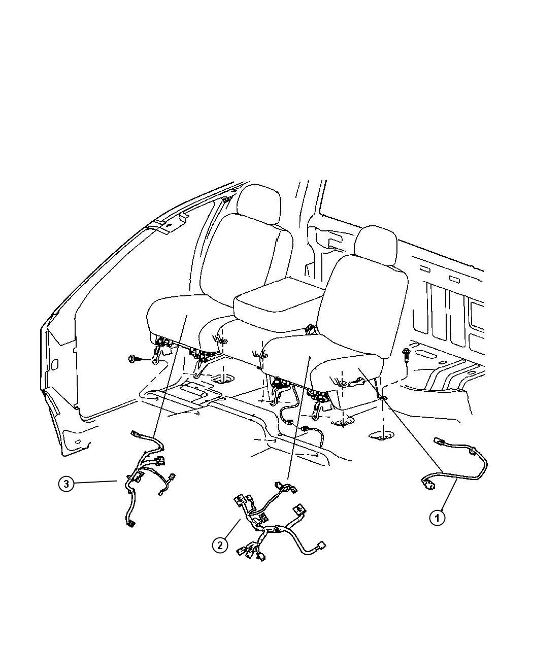 RAM Laramie Wiring. Power seat. [power 6-way driver seat