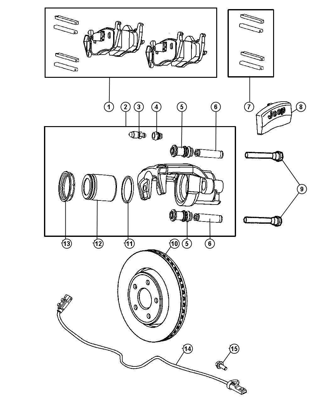 Jeep Grand Cherokee Pad Kit Rear Disc Brake Manuals
