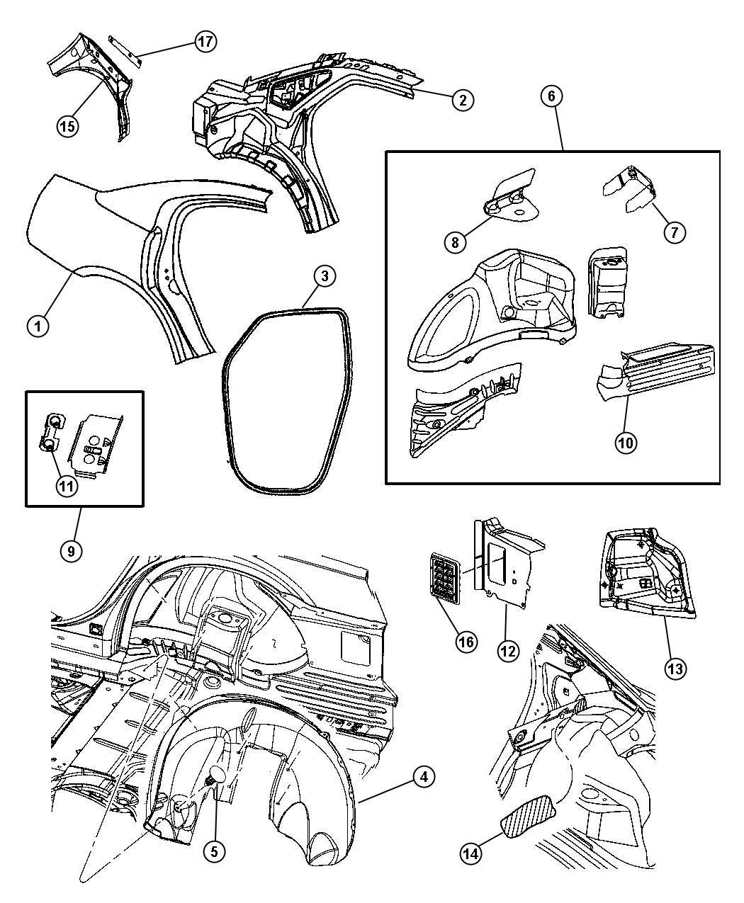 2006 Dodge Charger R/T 5.7L Hemi V8 Panel. Body side
