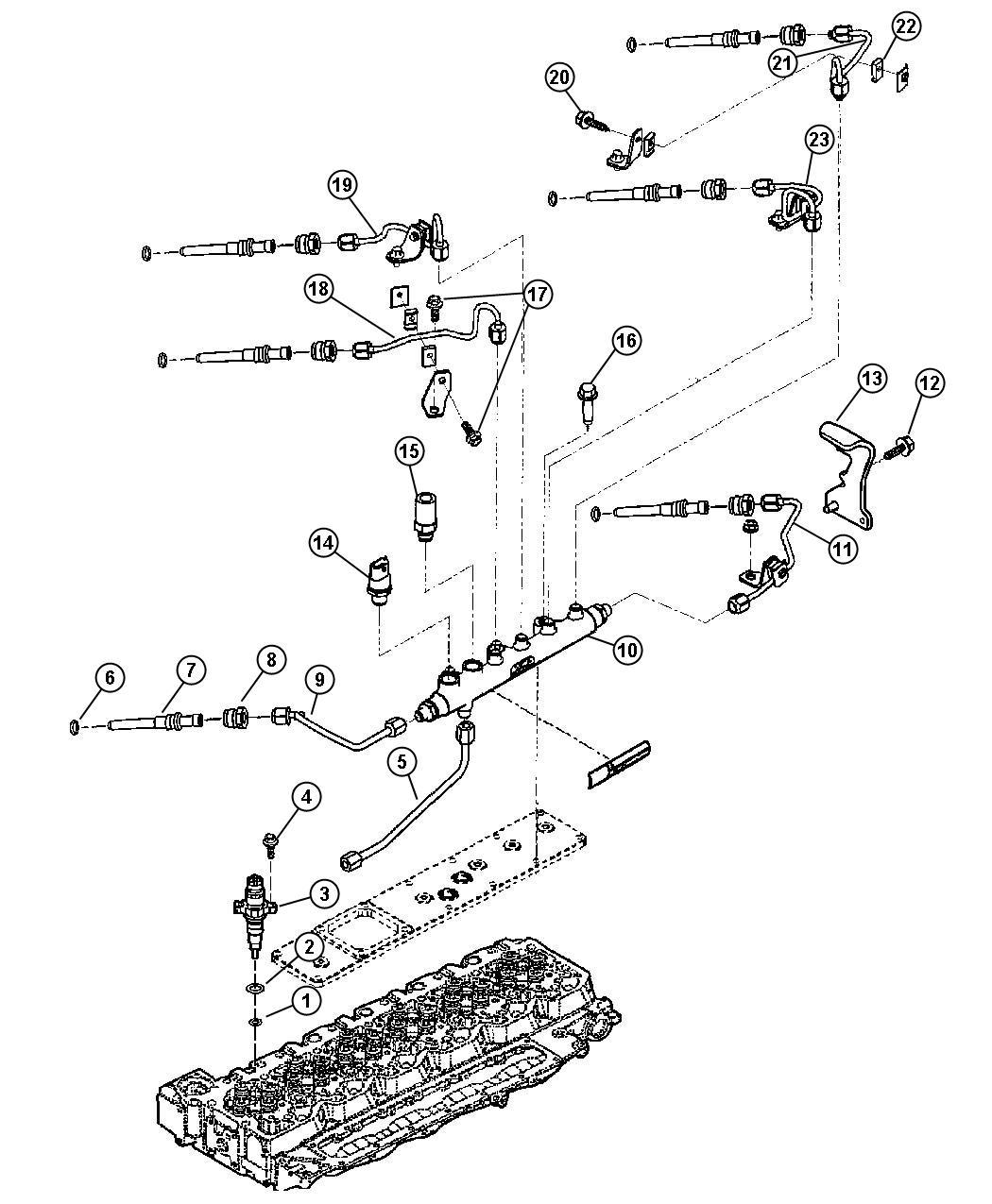 Dodge Ram Valve Pressure Relief Injjection
