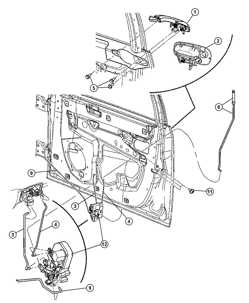 Dodge Charger Handle. Exterior door. Right. [w1], [w1