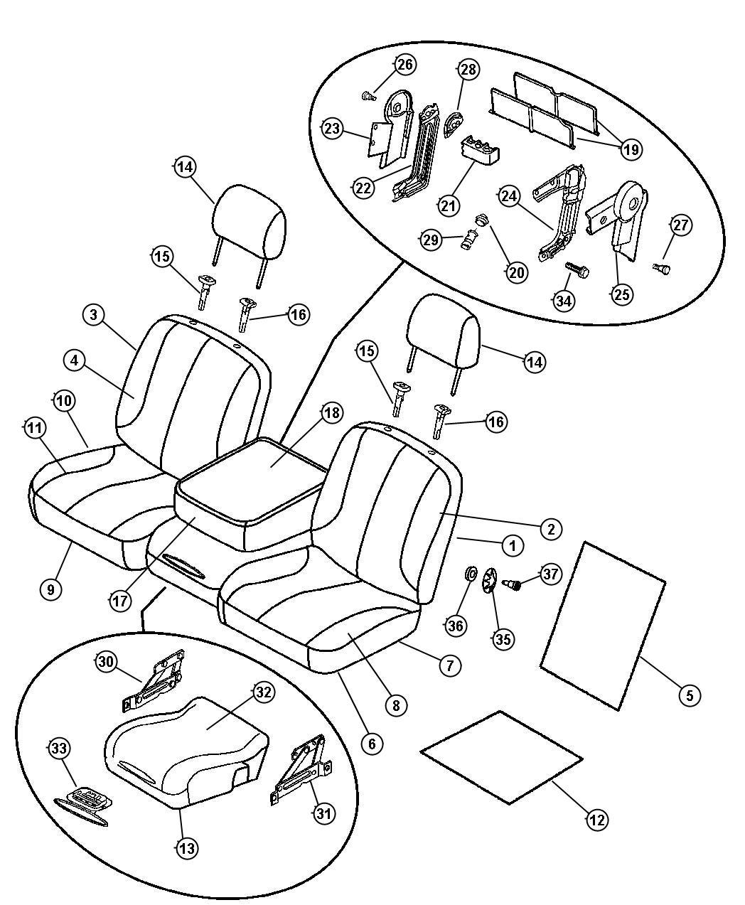 Dodge Ram 3500 Console. Seat. [d5]. Trim: [leather trim 40