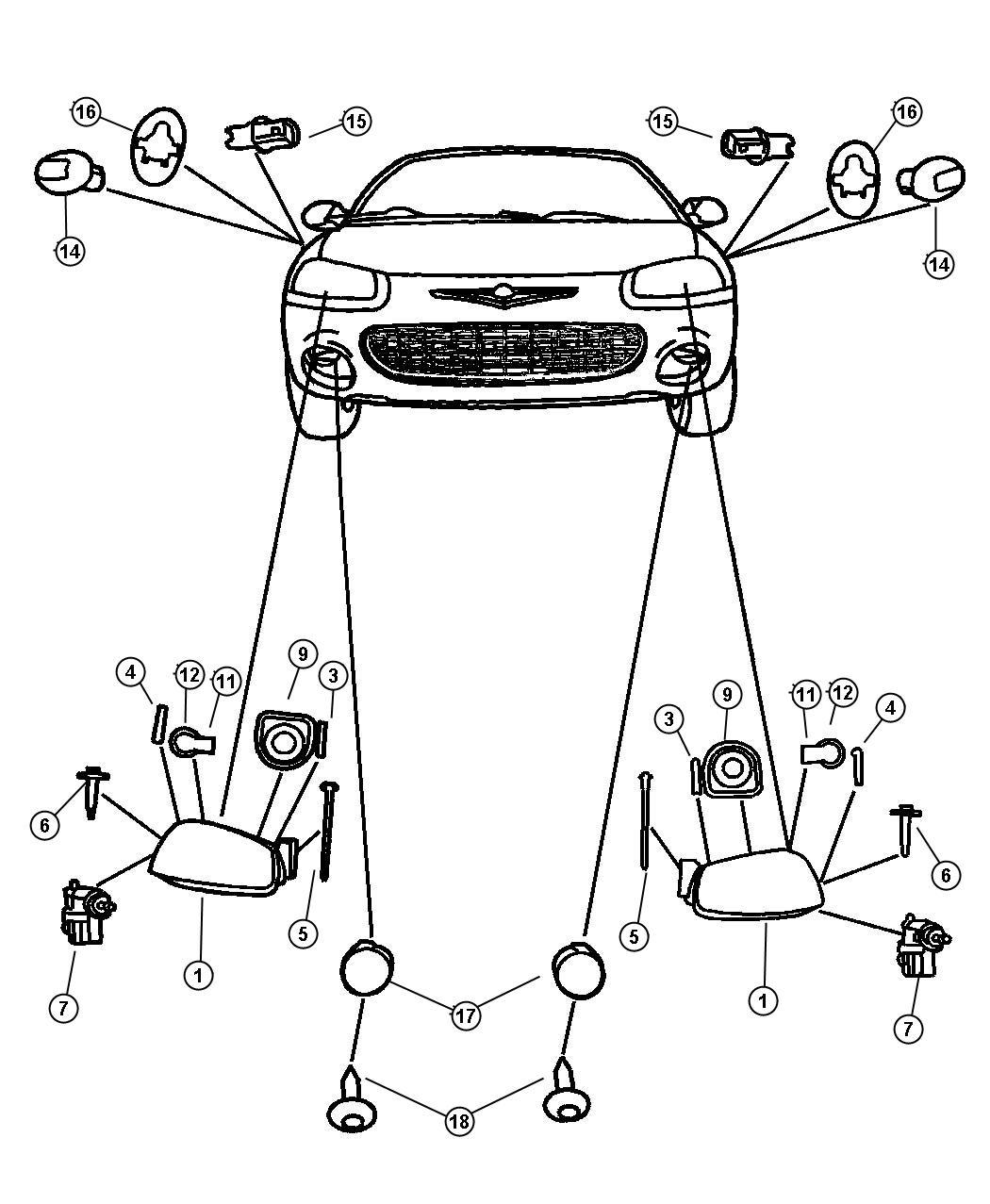 2006 Chrysler Sebring Module. Left. Headlamp. Lml