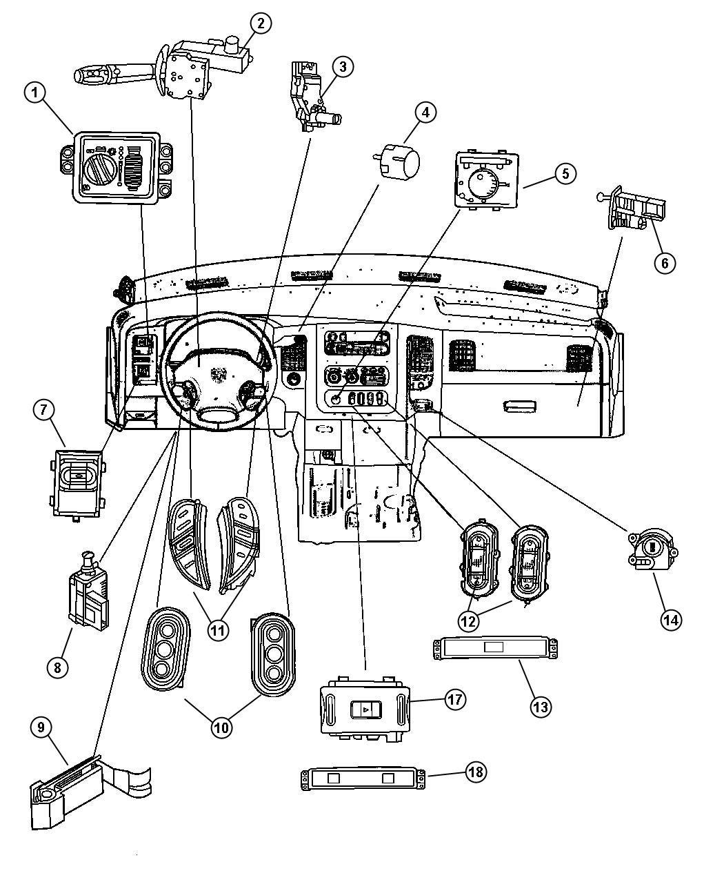 Dodge Ram 3500 Bezel. Power window switch. Trim: [all trim