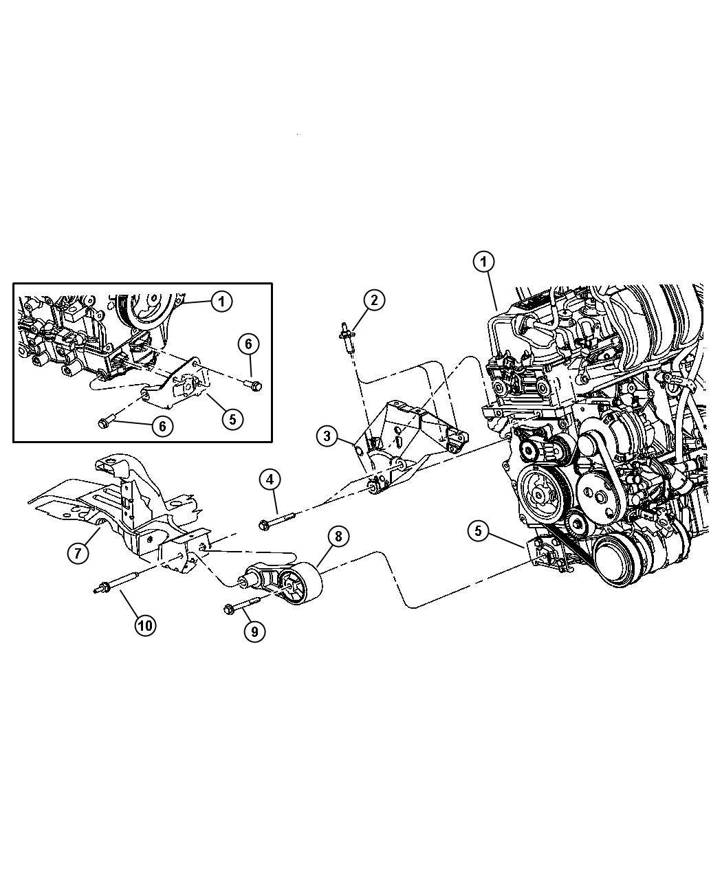Dodge Neon Isolator. Transmission mount. Manual