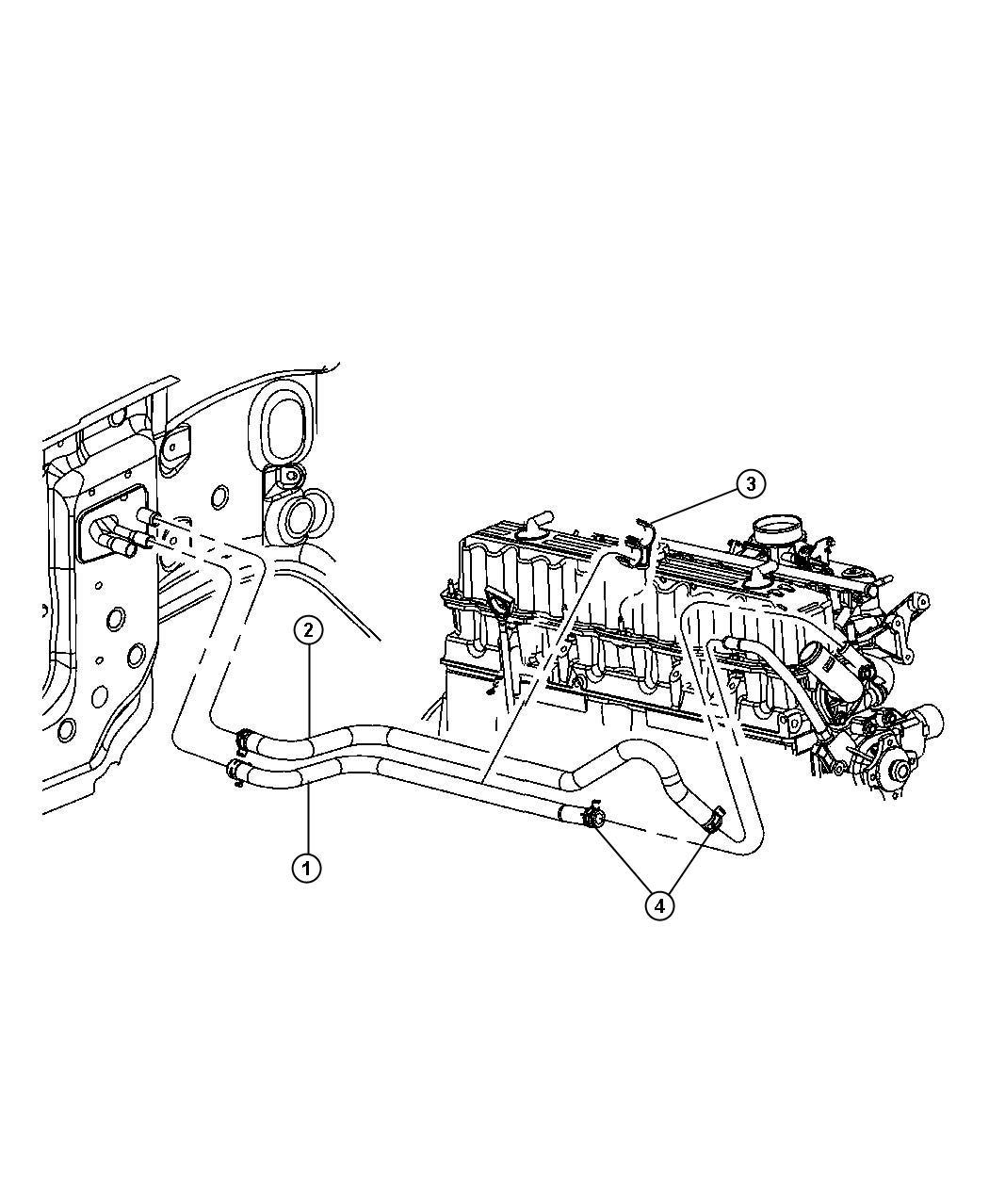 Jeep Wrangler Hose Heater Return