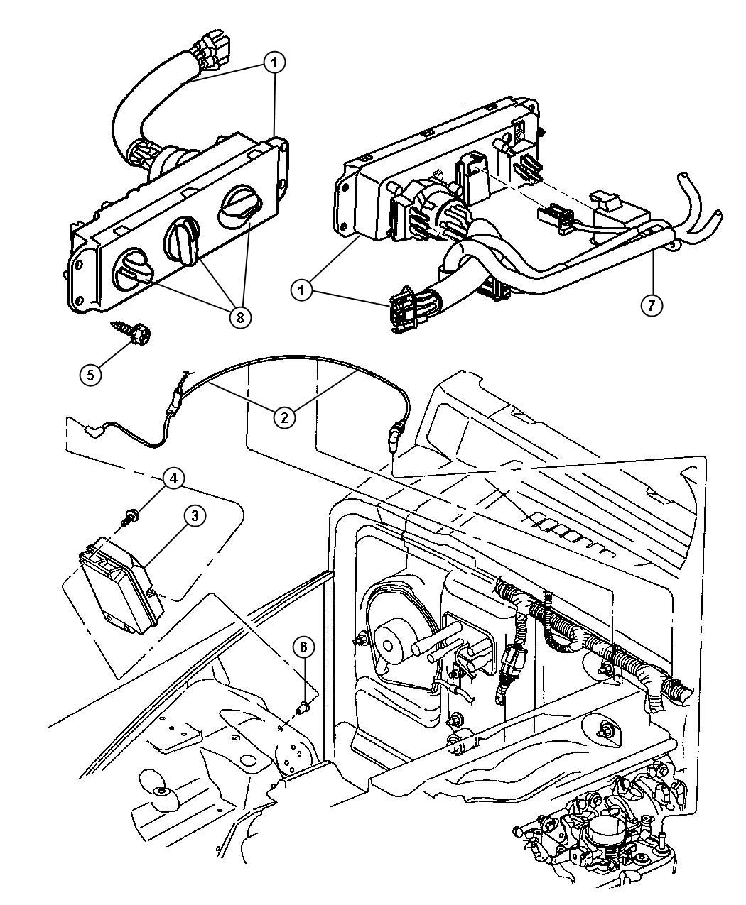 Jeep Wrangler Control Used For A C And Heater All