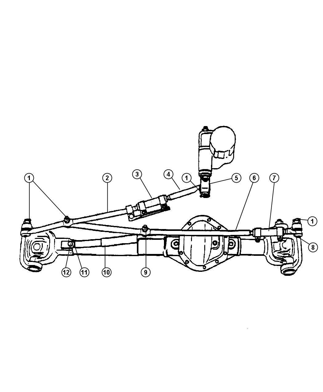 Dodge Ram 2500 Rod and link. Steering. Linkagesteering