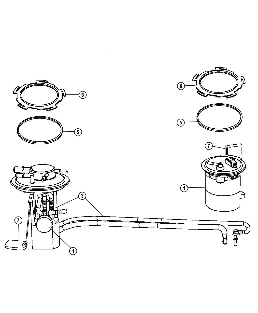Chrysler Pacifica Flange kit. Primary fuel module