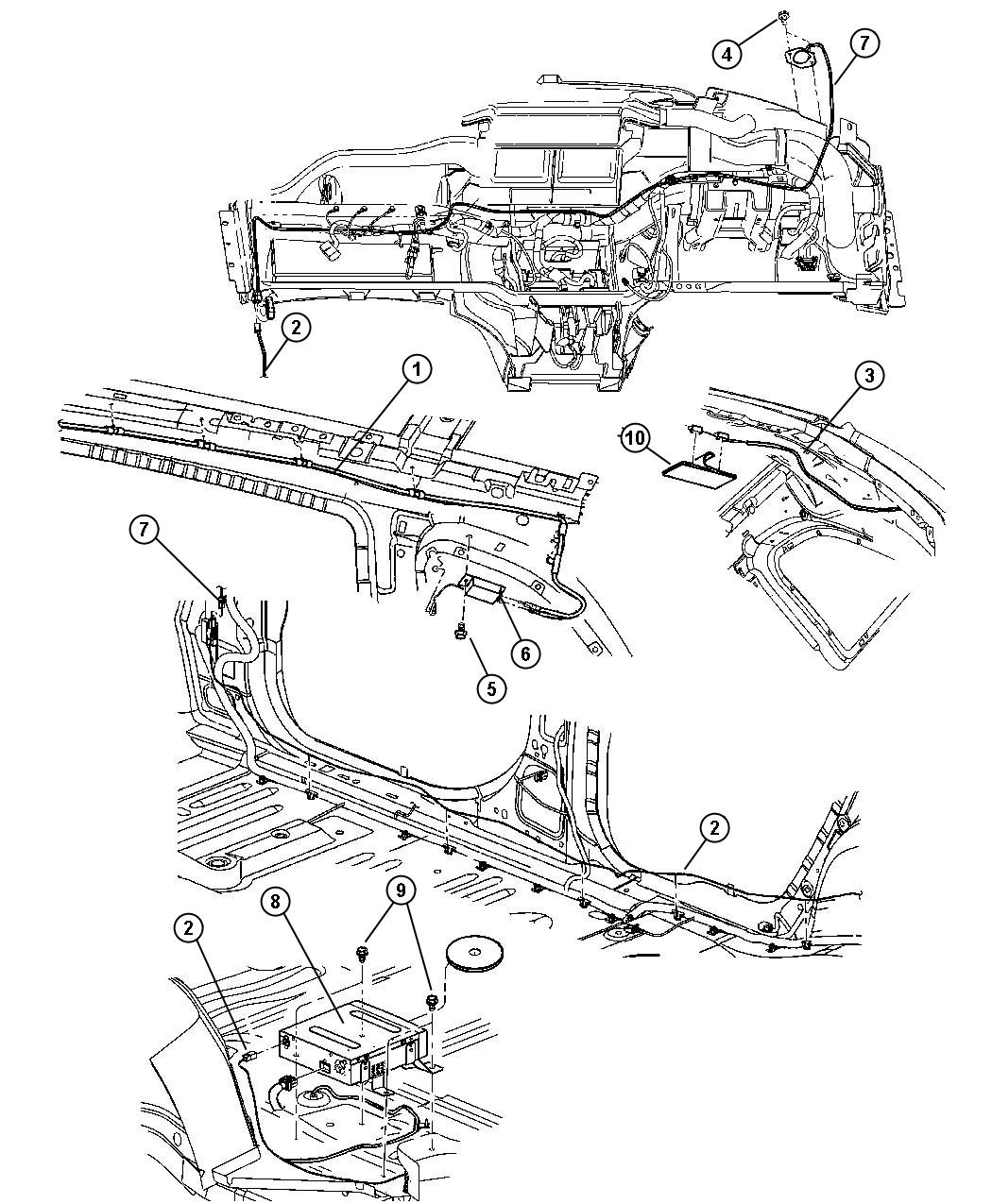 Chrysler Pacifica Tape. Foam, radio connector. Trim