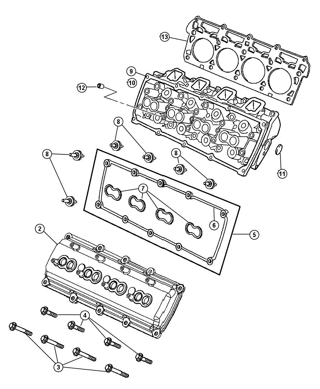 Jeep Grand Cherokee Gasket kit. Cylinder head cover