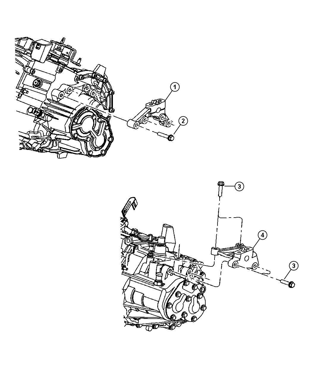 2001 Chrysler Pt Cruiser Support. Engine mount. Left