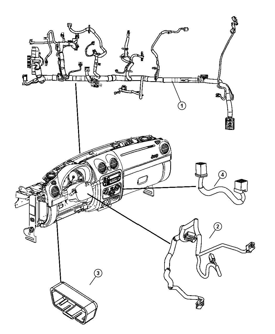 Jeep Liberty Wiring. Steering wheel. Trim: [all trim codes