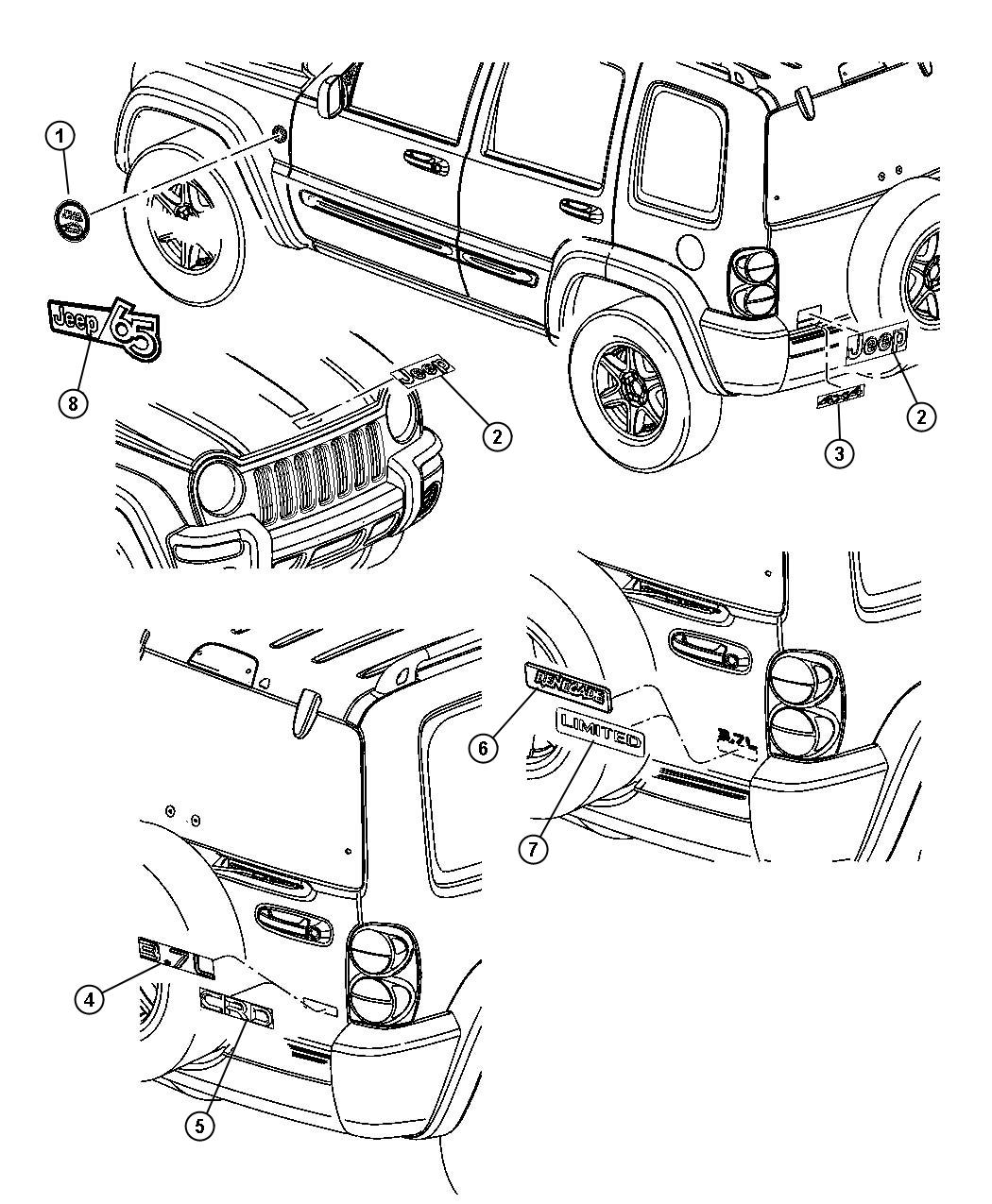 2006 Jeep Liberty Nameplate. [jeep 65th anniversary