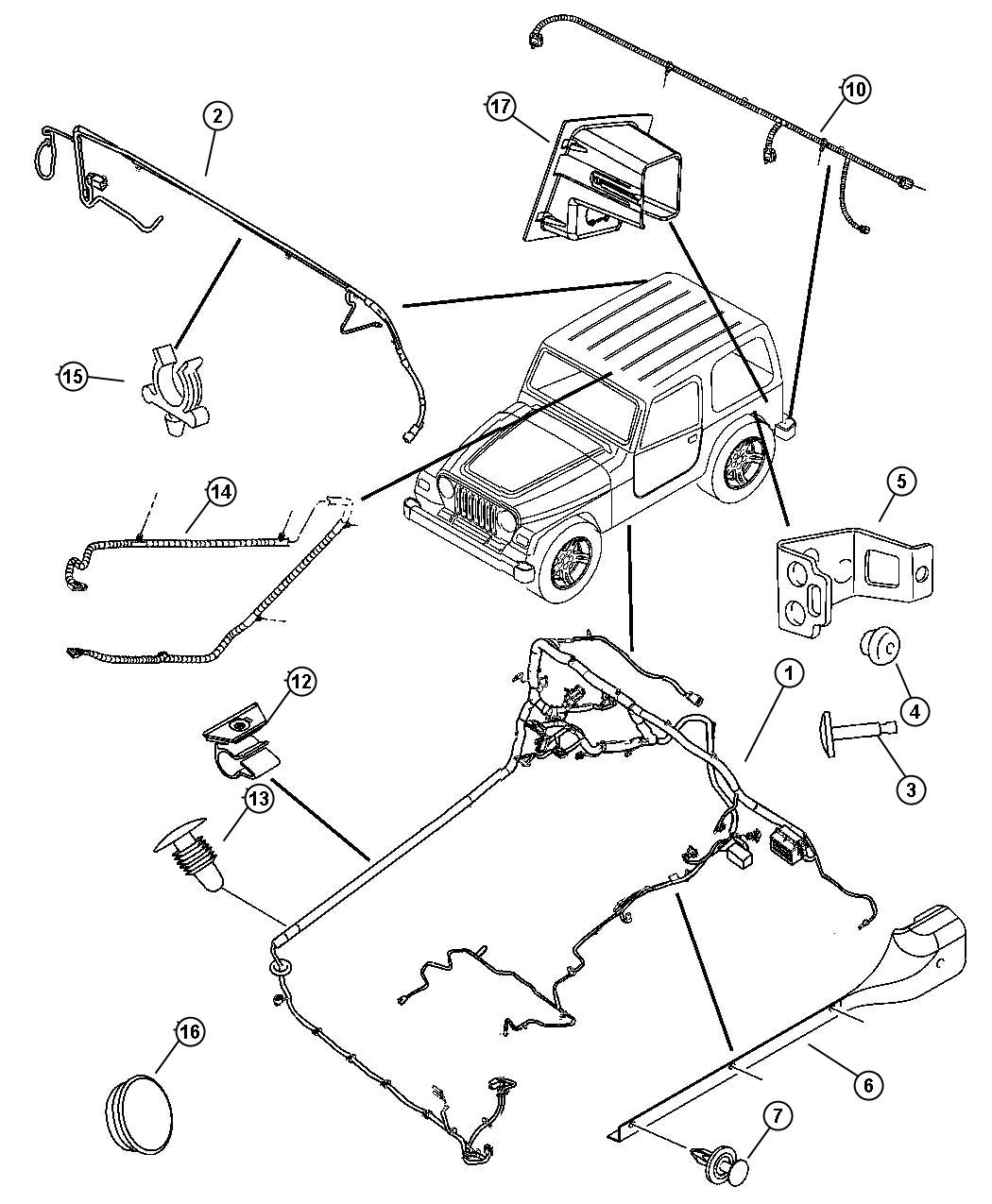 Jeep Wrangler Wiring. Body. [[easy folding soft top